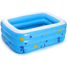 1pc 130 Cm* 90 Cm Baby Children's Inflatable Thickening Swimming Pool Kids Home Floats Bathtub Family Summer Water Entertainment(China)