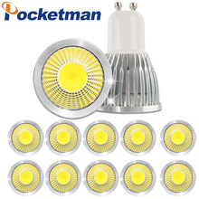 Dimmable Led Spotlight Bulb 15W 10W 7W Led Cob Sport Light Lamp Gu10 Led AC85-265v Lampada 10pcs(China)