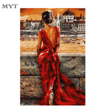 Sex Girl Canvas Painting By Number Drawing DIY Paintings By Numbers Kits Paint On Canvas For Home Wall Art Picture 40x50 DIY007(China)