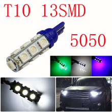 10PCS Universal 12 V 13 SMD T10 5050 Index Dome Vehicle Auto Car Truck LED Light Bulbs Free Shipping