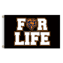 For Life Chicago Bears Flag Banners Football Team Flags 3x5 Ft Super Bowl Champions Banner Red Star World Series 90x150