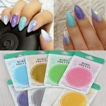 BORN PRETTY 1 Bag Shinning Mirror Mermaid Nail Glitter Powder Dust Nail Art Chrome Pigment Glitters for Nail Art Decorations