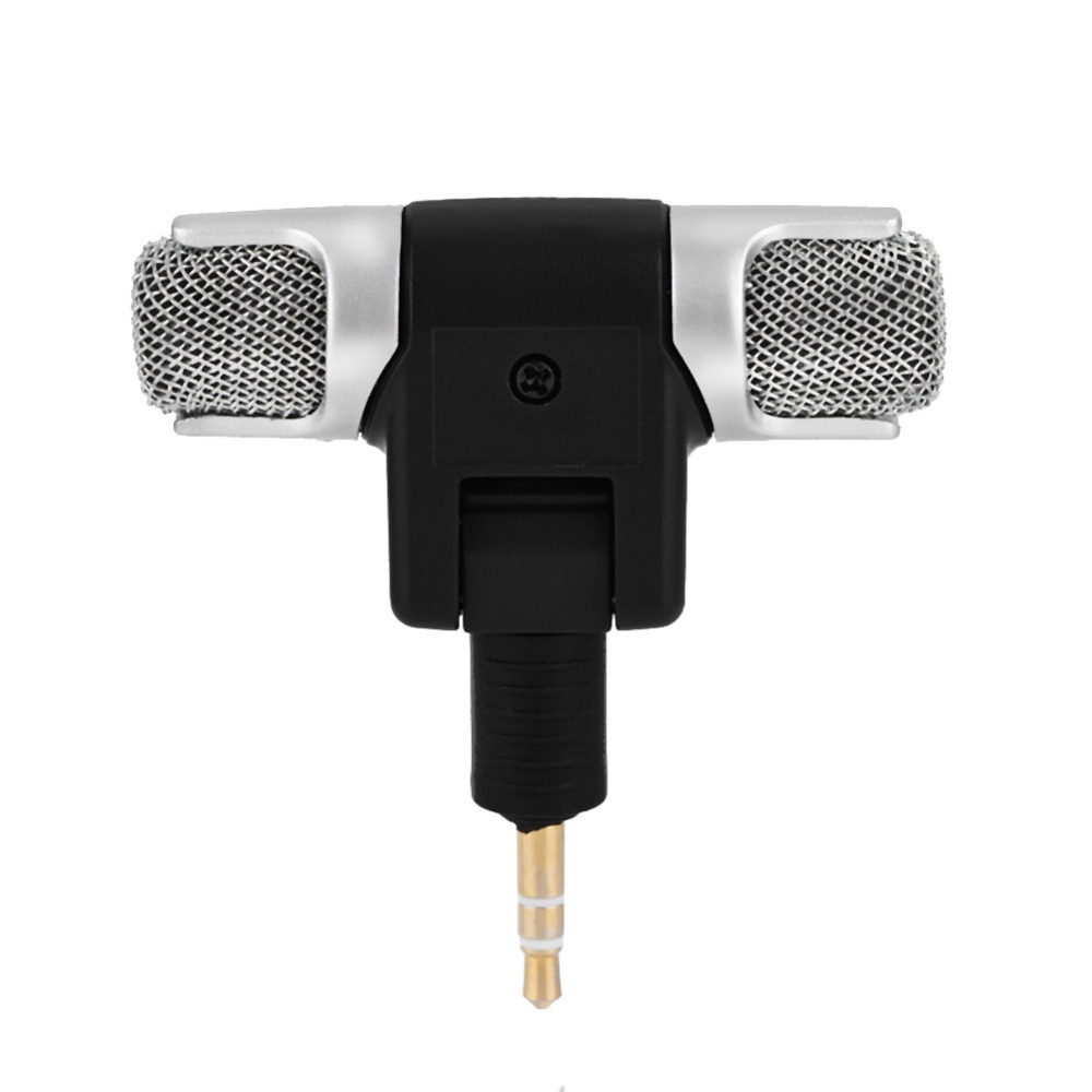 Mini Stereo Microphone Mic 3.5mm Gold-plating Plug Jack for PC Laptop MD Camera (3)