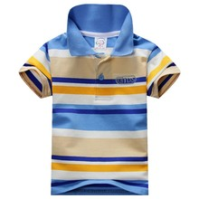 1-7Y Child Baby Boy Stand Collar Striped T-shirt Casual Tops Kids Tee Shirt