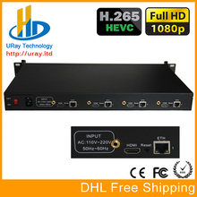 URay 4 Channels HEVC H.265 HDMI To IP Encoder Transmitter Live Streaming Encoder IPTV H264 Network Video IP Encoder RTMP Server