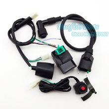 Wiring Loom Harness & Kill Switch & Ignition Coil & 5 pin AC CDI For 50cc-160cc SSR Thumpstar Pit Dirt Bike Motorcycle Motocross