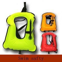 Free size Adult Inflatable Life Jacket Snorkeling Buoyancy Swimming Floating Life Vest(China)