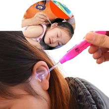 One Set LED EarPick Ear Wax Remove LED Flashlight Ear Pick Cleaner Tool Curette Ear Spoon New Ear Care Tool(China)