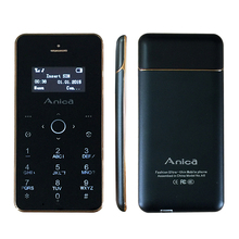 Anica A6 Unlocked Thinnest Small Bar phone Bluetooth 2.0 dial FM recorder mp3 Ultrathin card Mini cell mobile phones A6 P507