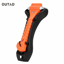 OUTAD Mini Car Safety Hammer Life Saving Escape Emergency Hammer Seat Belt Cutter Window Glass Breaker Car Rescue Red Hammer