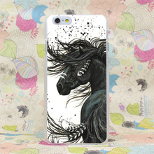 657HJ Majestic Mustang Horse Hard Transparent Case Cover for iPhone 4 4s 5 5s SE 5C 6 6s Plus 7 7 Plus