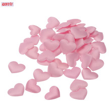 3cm 1000PCS Love Heart Shaped Artifical Flower Petals Wedding Party Decorations False Sponge Petal 6ZHH198(China)