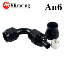 VR RACING- Black High Quality PTEF AN6 AN-6 90 DEGREE REUSABLE SWIVEL TEFLON HOSE END FITTING AN6 VR-SL6090-06-021