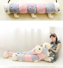 1Pcs 75cm Baby Toys Colorful Caterpillars Millennium Bug Doll Plush Toys Large Caterpillar Pillow Doll toys