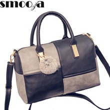 SMOOZA new casual small patchwork pillow handbags hotsale women evening clutch ladies party famous brand shoulder crossbody bags(China)