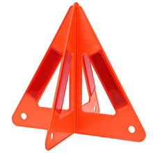Auto Car Fold Warning Triangle Safety Emergency Reflective Flash Sign Vehicle Fault Cars Tripod Folded Stop Sign Reflector(China)