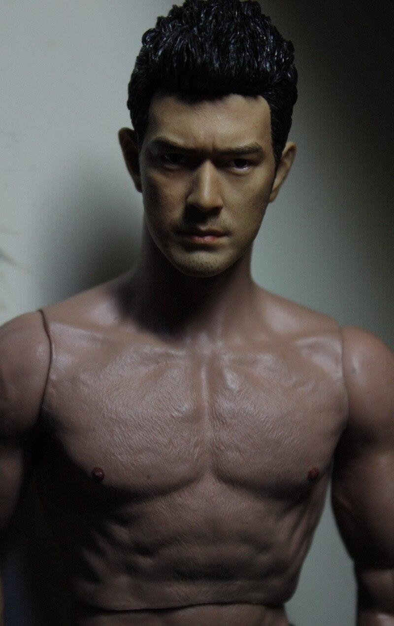 Mnotht Toy HOT FIGURE TOYS 1/6 HEADSCULPT Takeshi Kaneshiro HEADPLAY Straight hair Head Model Toy L30<br>