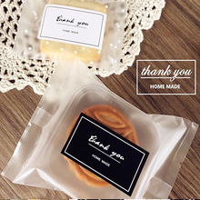 80pcs/lot Rectangle Black & White Thank You Baking Seal Sticker For Handmade Product For Party Favor Gift Bag Candy Box Decor P2(China)