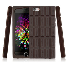 New Hot Chocolate Silicone Rubber 3D Mobile Phone Cover Case For iPhone 6/6s Wholesale