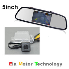 Auto Back UP Reverse Camera + 5inch Screen Mirror Monitor = 2 in 1 Rearview Parking System for Ford EcoSport 2013~2015