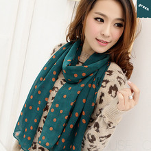 Spring and autumn velvet chiffon scarf Leopard skull sunsreen cape beach towel polka dot silk scarf shawl(China)