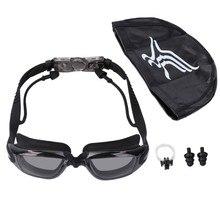 1788762b807 Swim Goggles Cap Nose Clip Adult Men Women UV Protection Anti Fog  Technology Set UNS-OKLE