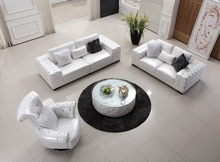 Contemporary luxury Modern leather sofa U shape sofa set 1+2+3 crystal diamond casual living room sofa made in China