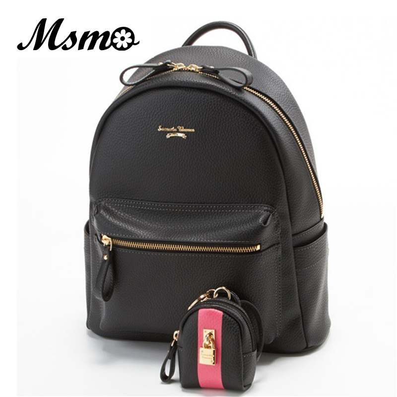 MSMO 2017 Luxury brand Girl Cute Samantha Vega Sailor moon Backpack Schoolbag Women Leather Backpack Bookbag with a lock purse<br>