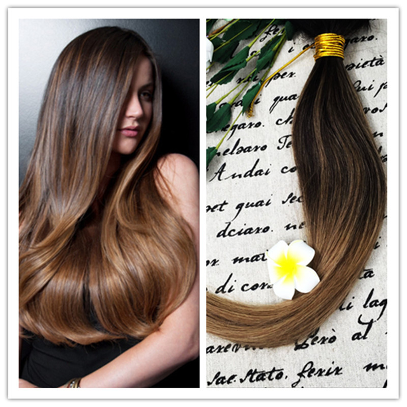 Full Shine 2016 Cheap Wholesale New Fall Fashion 100 Real Human Hair Extensions Ombre Color #2#6 Sew in Human Hair Weave<br><br>Aliexpress