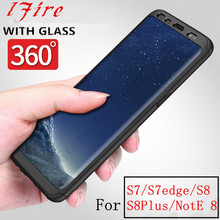 Heat Matte phone hard Back PC Cases For Samsung Galaxy S8 S7 edge 360 Full Cover Case For Samsung Galaxy Note 8 Protect shell(China)