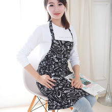 Korean Waist Bib Kitchen Apron Funny Patterns Cooking Apron Cute Fashion Chef Apron for Men or Women(China)