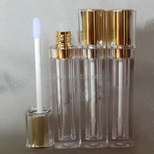 Free shipping 8ml lip gloss tubes with Gold,Silver cap Double wall,Square Lip stick packing container,Empty DIY lip balm bottle