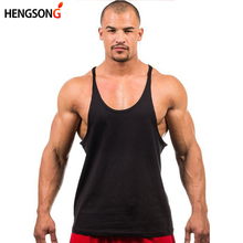 Bodybuilding Merk Tank Top Mannen Stringer Tank Top Fitness Singlet Mouwloos Shirt Workout Man Hemd Kleding NQ659468(China)