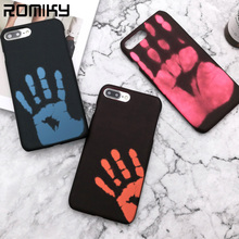 Romiky Temperature Sens TPU Case For Iphone 7 6s Plus Color Change Silicone Back Cover For Iphone 6 7 Plus Funny Rubber Case