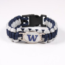 Washington Huskies NCAA Football Team Paracord Survival Bracelet Friendship Outdoor Camping Bracelet Drop Shipping 2017