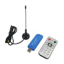 1pcs Mini Video Equipment TV Dongle DVB-T+DAB + FM RTL2832U + R820T2 Digital USB 2.0 TV Stick Support SDR Tuner Receiver+Antenna