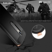 Juocan Soft TPU Silicon Cell Phone Back Cover For MOTO G3 G4 Play Hybrid Shockproof Carbon Fiber Texture Brushed Case For MOTO C
