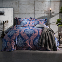 100S Egyptian Cotton Silk Bed Linen set Luxury Royal Bedding set Queen King size Bohemia style Duvet cover Bed sheet Pillowcase