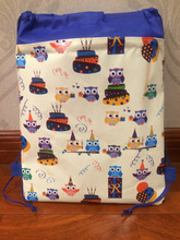 nimal owl ballon cake backpack gmy school bag tote non-woven string shoe bag for boys and girls kids birthday gifts suppilies(China)