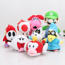 Super Mario Bros Plush Toys Doll 15cm-25cm Super Mario Bros Mario Luigi Shy Guy Birdo Boo Dry Bones Stuffed Plush Toy(China)