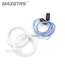 2x Cotton Light Angel Eye LED DRL Car Motorcycle Fog Light Halo Rings Waterproof Auto Headlight Turning Signal With Lampshades(China)