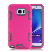 Note 5 Case Protective Mobile Phone Cases For Samsung Galaxy Note 5 N9200 Cover Armor Dual Layer Hybrid Silicone Hard Back Shell(China)