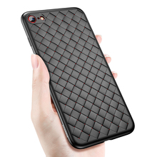 Baseus Weaveing phone case for iPhone 7 8 Trendy Grid Silicone Case for iPhone 7 8plus Luxury Ultra Thin Slim Soft TPU Capinha(China)