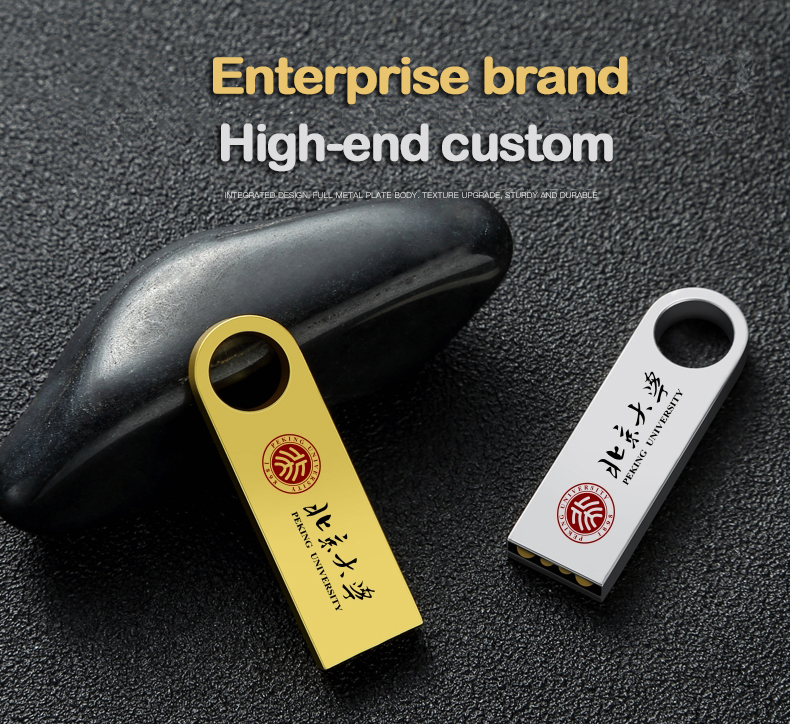 Creative Printed Metal Company publicity Gift Customize logo Pendrive USB Flash Drive 32gb 16gb 8gb  Memory Stick Storage Device