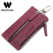 Genuine Leather Car Key Wallets Vintage Key Holder Housekeeper Keys Organizer Keychain Covers Case Bag Pouch With Coin Purse