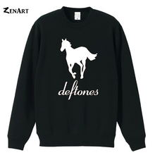 Deftones logo horse American alternative metal band Sacramento California couple clothes woman cotton fleece Sweatshirt