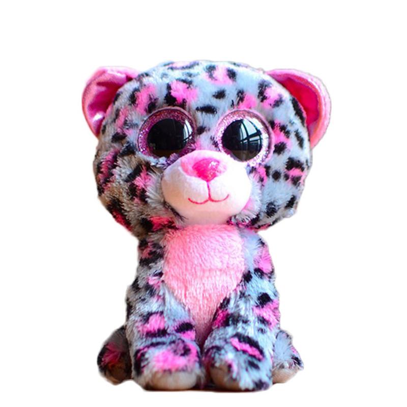 Ty-Beanie-Boos-Original-Big-Eyes-Plush-Toy-Doll-10-15cm-Spots-Leopard-TY-Baby-For