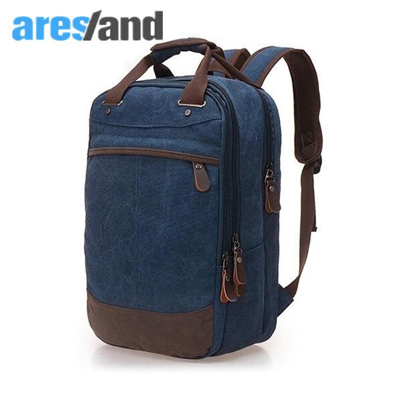 Aresland Three-layer Mens Bag Canvas Backpack Rucksack shoulder bag Travel Bag Schoolbag<br><br>Aliexpress