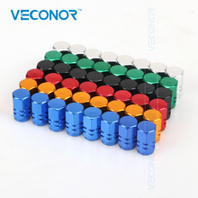 Veconor 48pieces/pack different colors universal aluminum hexgon style auto car tyre valve caps tire accessires(China)