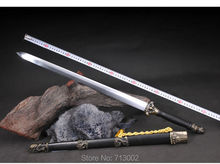 Martial Art Jian Chinese KungFu Sword Carbon Steel Wushu Sword Ebony Tang Sword